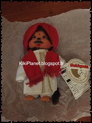 le Monchhichi National Indian Boy référence 276020, sekiguchi, kiki, kiki le vrai