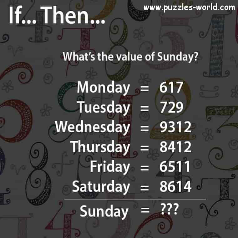 What is the value of Sunday ?