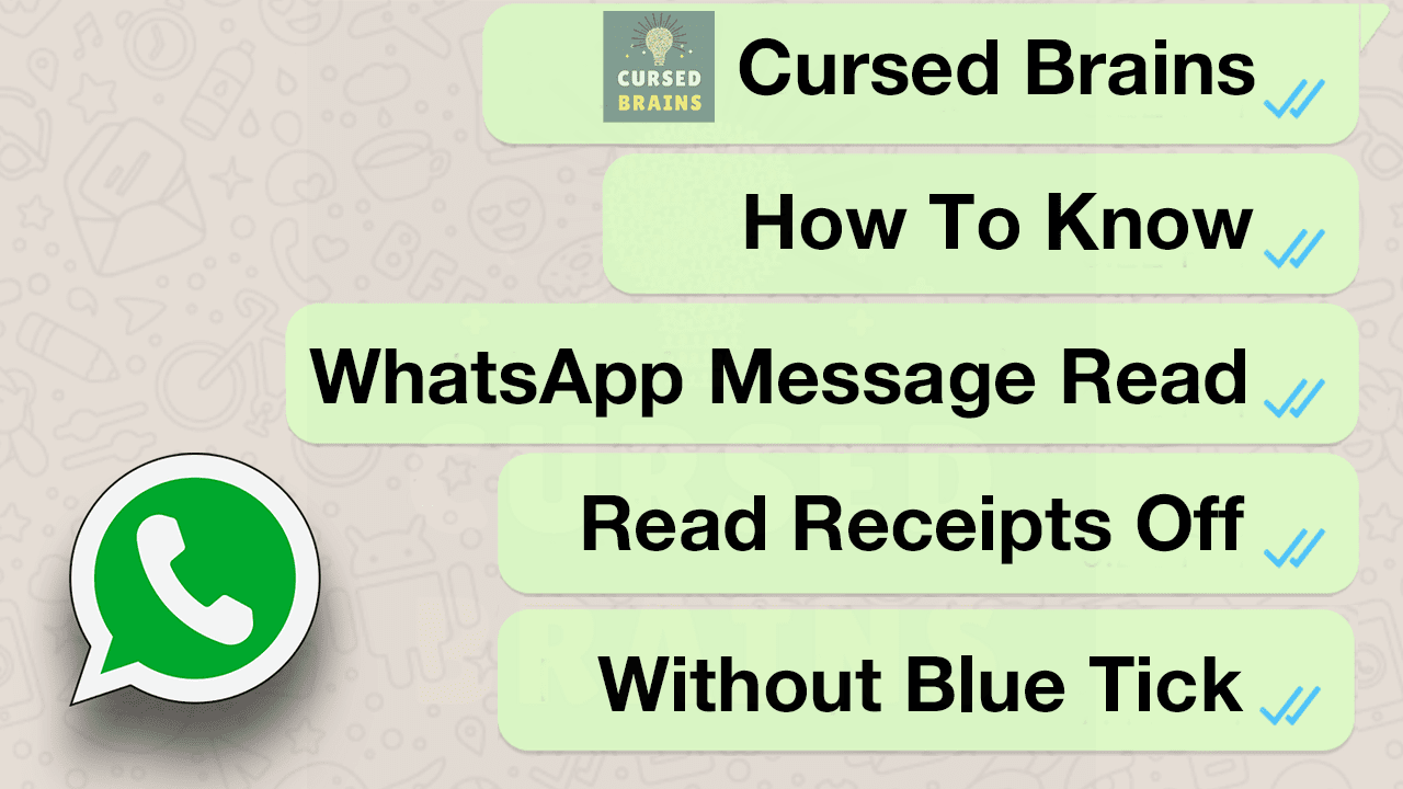 How To Know WhatsApp Message Read - Read Receipts Off - Without Blue Tick