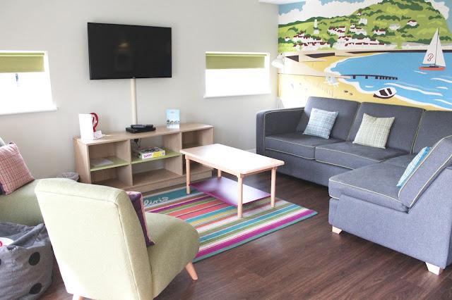 living room in butlins west lake chalet village minehead