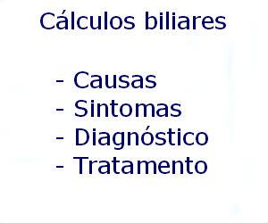 Cálculos biliares causas sintomas diagnóstico tratamento prevenção riscos complicações