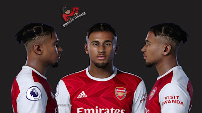 PES 2021 Faces Reiss Nelson by Prince Hamiz