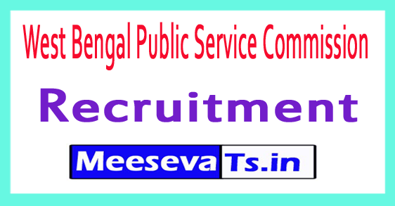 West Bengal Public Service Commission WBPSC Recruitment Notification 2017