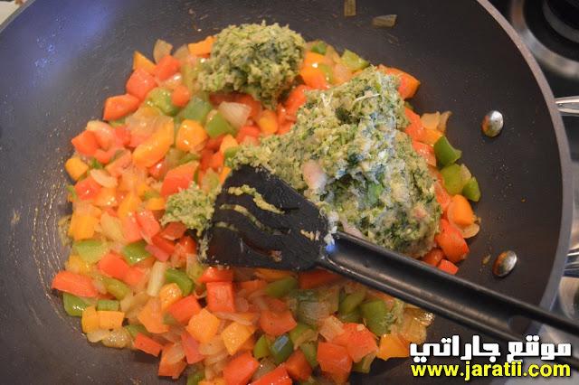 مسمن على شكل محنشة بالدجاج والخضروات
