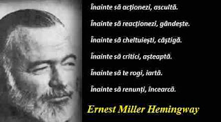 Maxima zilei: 21 iulie - Ernest Miller Hemingway