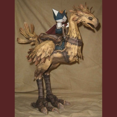 Final Fantasy XI Chocobo Papercraft