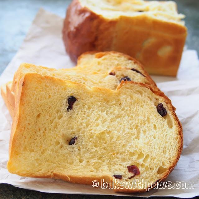 Orange Cranberry Soft Sourdouh Bread