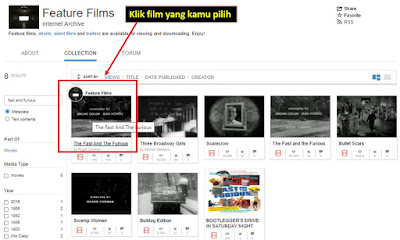 pilih film unduhan archive.org