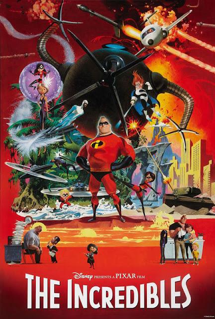 Cartel de la película Los Increíbles de Disney Pixar