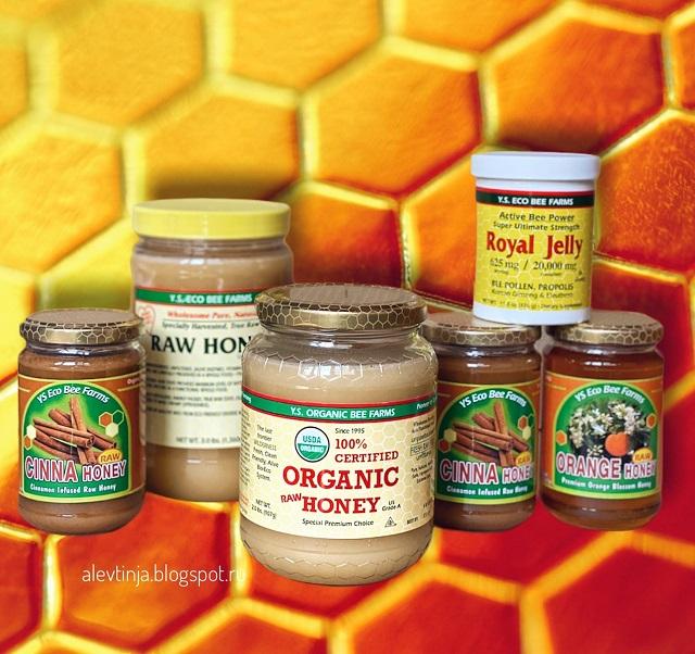 Y.S. Eco Bee Farms, 100% сертифицированный органический сырой мед, 907 г