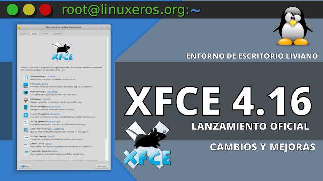 XFCE 4.16 lanzado oficialmente, esto es lo nuevo
