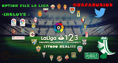 PES 2019 PC/PS4 Option File LaLiga 1|2|3 Season 2018/2019 by Rafarubiob