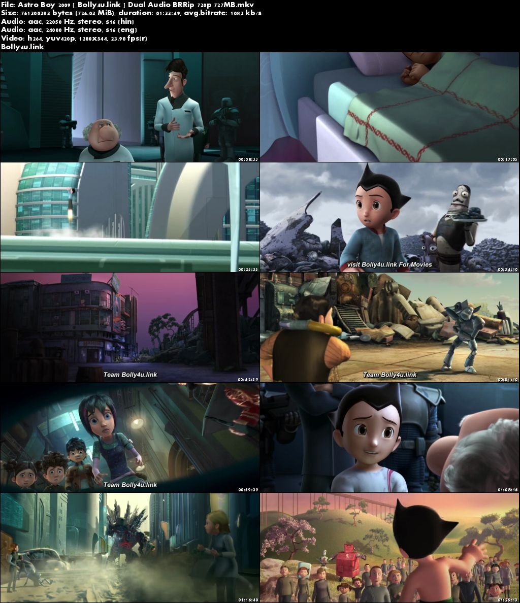 Astro Boy 2009 BRRip 700MB Hindi Dual Audio 720p Download