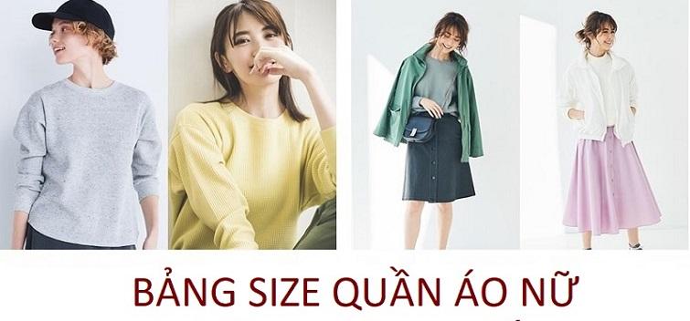 Cách chọn size chuẩn quần áo nữ ?