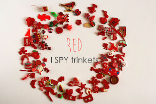 Colorful I spy trinkets, Rainbow trinkets TomToy