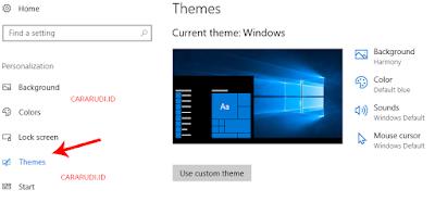 cara ganti tema windows