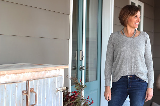 Union St Tee by Hey June in a rib  knit from Indiesew