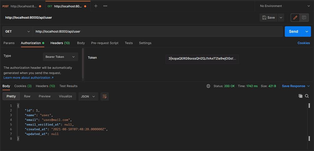 Cara Menggunakan Laravel Sanctum di Laravel 8