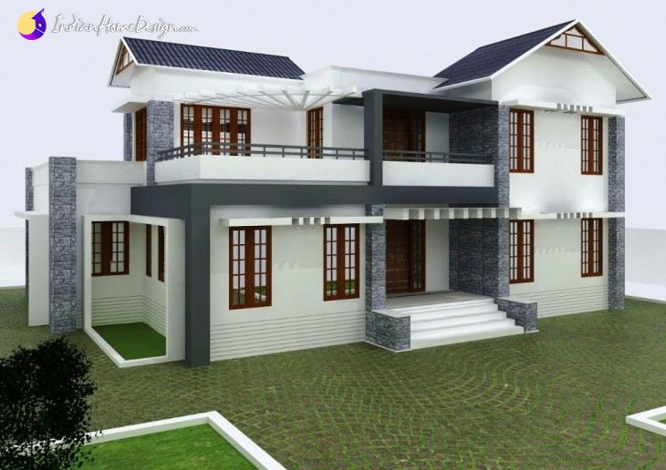 2800 Sqft 5BHK Contemporary Home Design By Ananya Architects