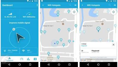 Aplikasi OpenSignal Cara Mendapatkan Wifi Gratis Lokasi Terdekat Dimana Saja Kantor Mall Hotel