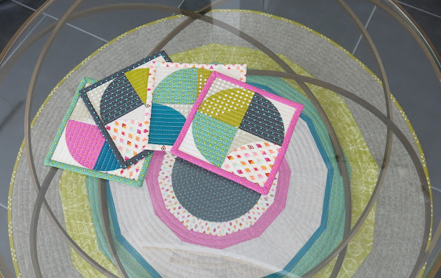 Luna Lovequilts - Quilted coasters and patchwork rug