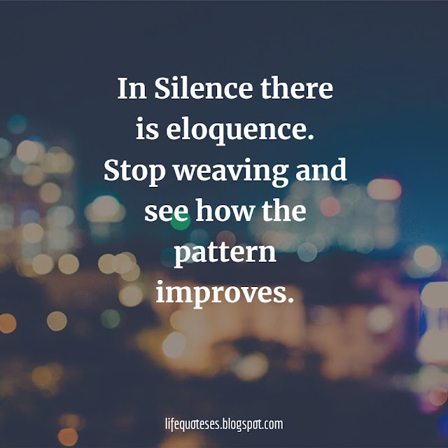 Silence Quotes on love