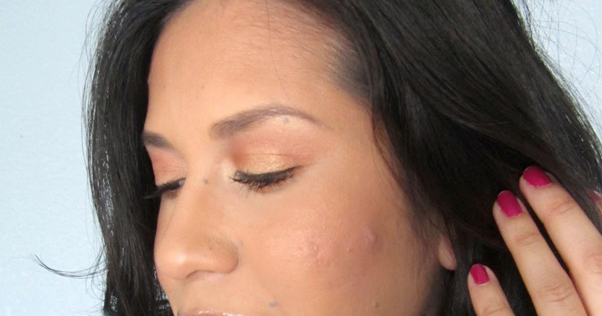 Glow makeup look