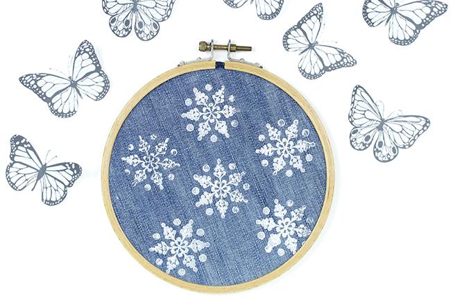 Ynas Design BLog | Schneestempeln | Schmetterlinge