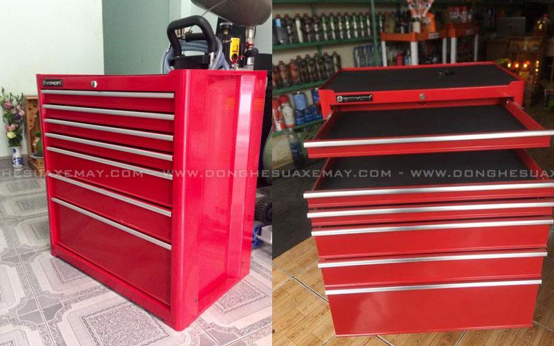 tủ đồ nghề, tủ dụng cụ cơ khí, tủ đựng đồ nghề, tủ dụng cụ 3 ngăn, tủ đồ nghề xe máy 7 ngăn, tủ đựng đồ nghề sửa xe máy