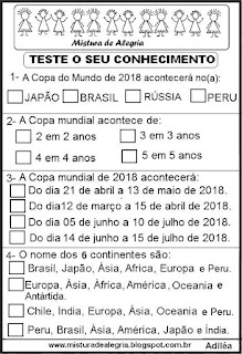 Simulado sobre Copa mundial 2018