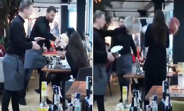 Σερβιτόροι τσαντίστηκαν με αγενέστατη πελάτισσα