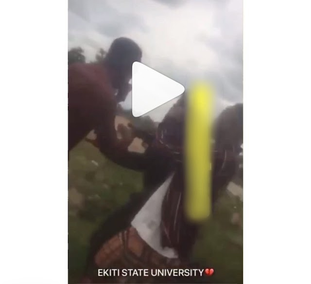Wahala! Nigerian Police and EKSU Student Fights Dirty For Searching His Phone. VIDEO