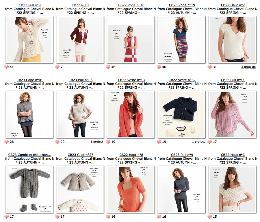 Cheval Blanc patterns from blogger Dayana Knits
