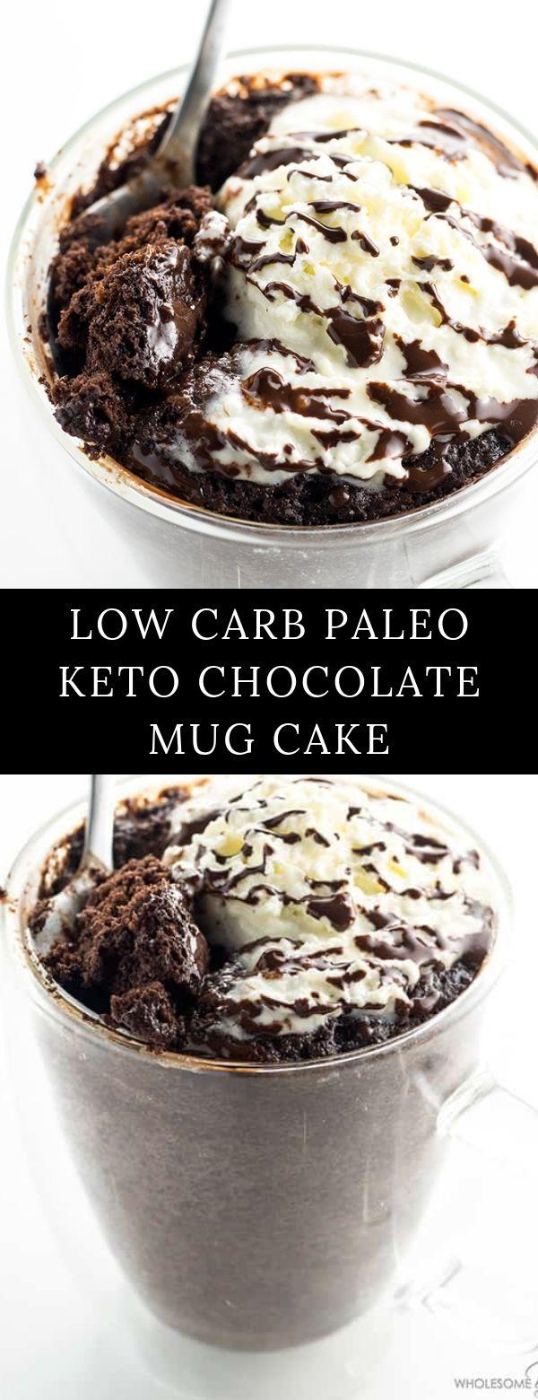 LOW CARB PALEO KETO CHOCOLATE MUG CAKE