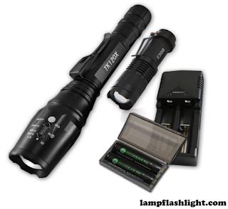 EcoGear TK120X FX Professional Grade LED Flashlight Kit Brightest Tactical with High-Lumen Output