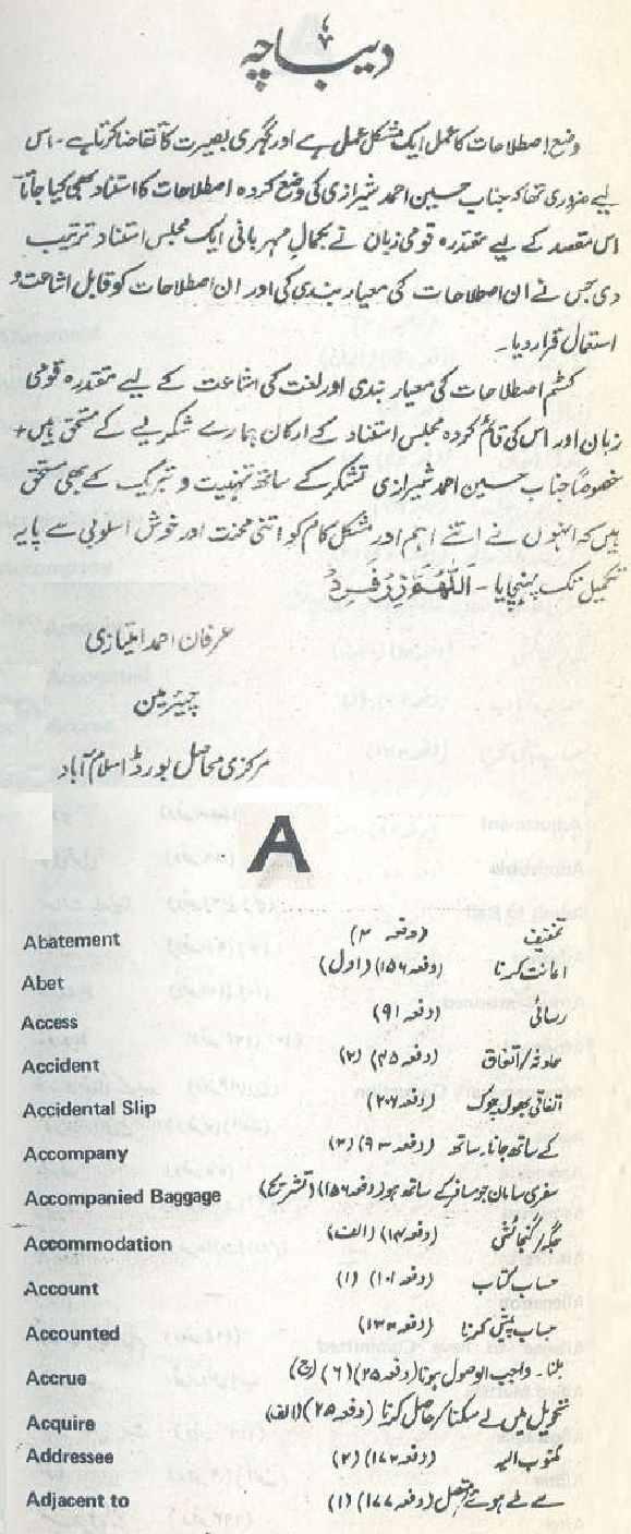 Istilahaat e Custom by Hussain Ahmed Sherazi