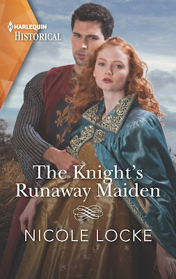 The Knight's Runaway Maiden by Nicole Locke book cover Mills & Boon Harlequin historical