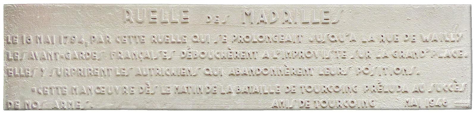Ruelle des Madrilles, Lecaillon, Tourcoing