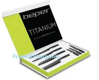 Logo Casa Henkel : in omaggio Set 7 coltelli professionali Titanium Beper
