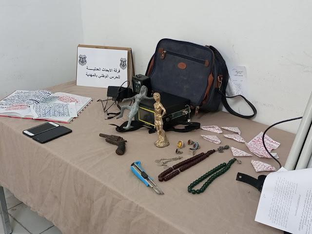 بين الشابة وقصور الساف والعاصمة : القبض على عصابة وحجز قطع أثرية وآلة لكشف المعادن (صور)