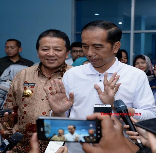 Presiden RI Jokowi Didampingi Gubernur Lampung Arinal, Meninjau RSUD-AM
