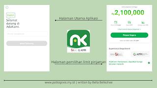 Halaman Utama Aplikasi Ada Kami