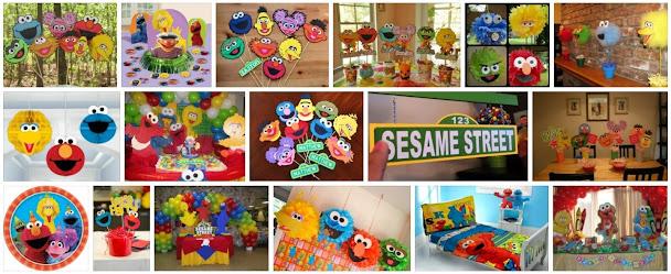 Sesame Street food cards, Sesame Street character posters
