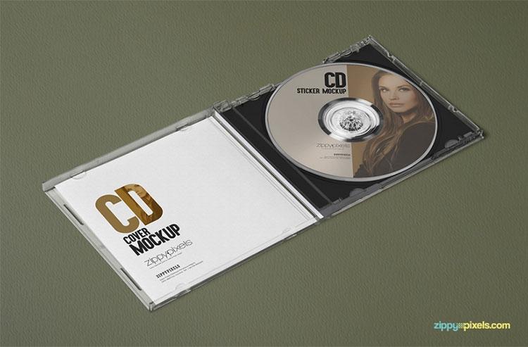3 Free Plastic CD Case Mockups