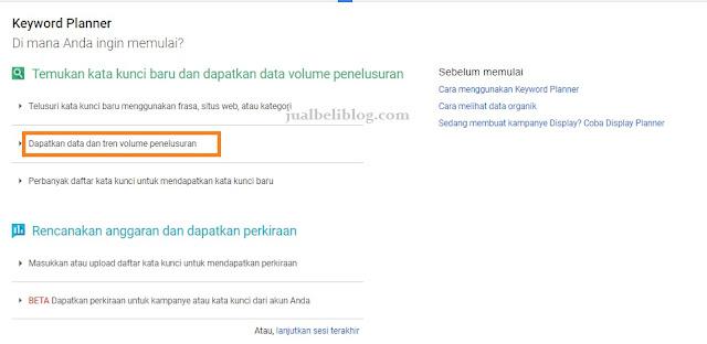 Cara Riset Keyword turunan dengan Google Keyword Planner