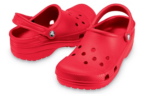 crocs shoes close woman crocodile company crocodiles rocks baby footwear hit lay employees stores plans there marked mexican they were