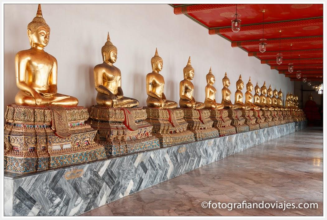 Budaw en Wat Pho en Bangkok