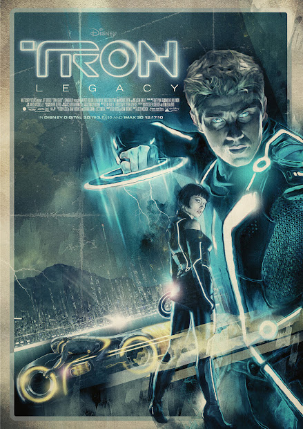 Geeky Nerfherder Movie Poster Art Tron Legacy 2010
