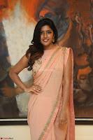 Eesha Rebba in beautiful peach saree at Darshakudu pre release ~  Exclusive Celebrities Galleries 065.JPG