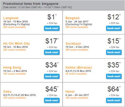 giá vé bay từ Singapore của tiger air